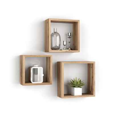 Lot de 3 cubes muraux carré